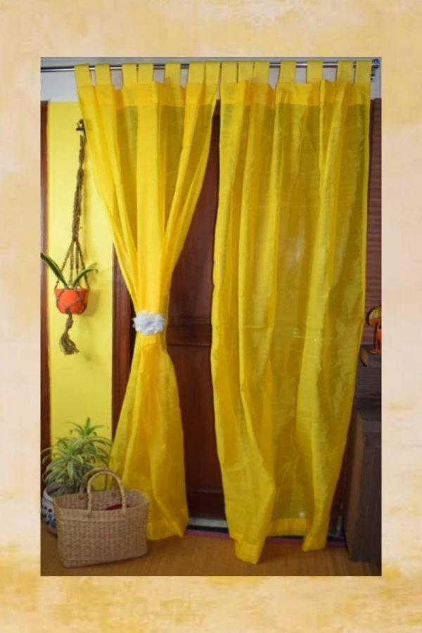 Yellow Saree Curtain